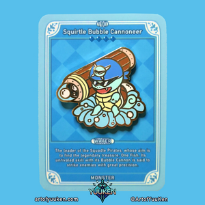 118 Squirtle Bubble Cannoneer Enamel Pin