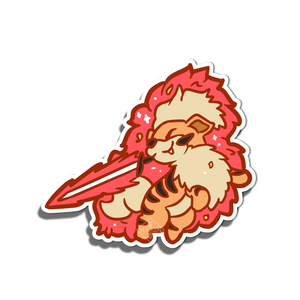 #120 Growlithe Blazing Warrior Vinyl Sticker