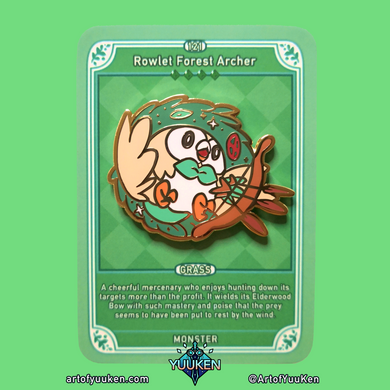 121 Rowlet Forest Archer Enamel Pin