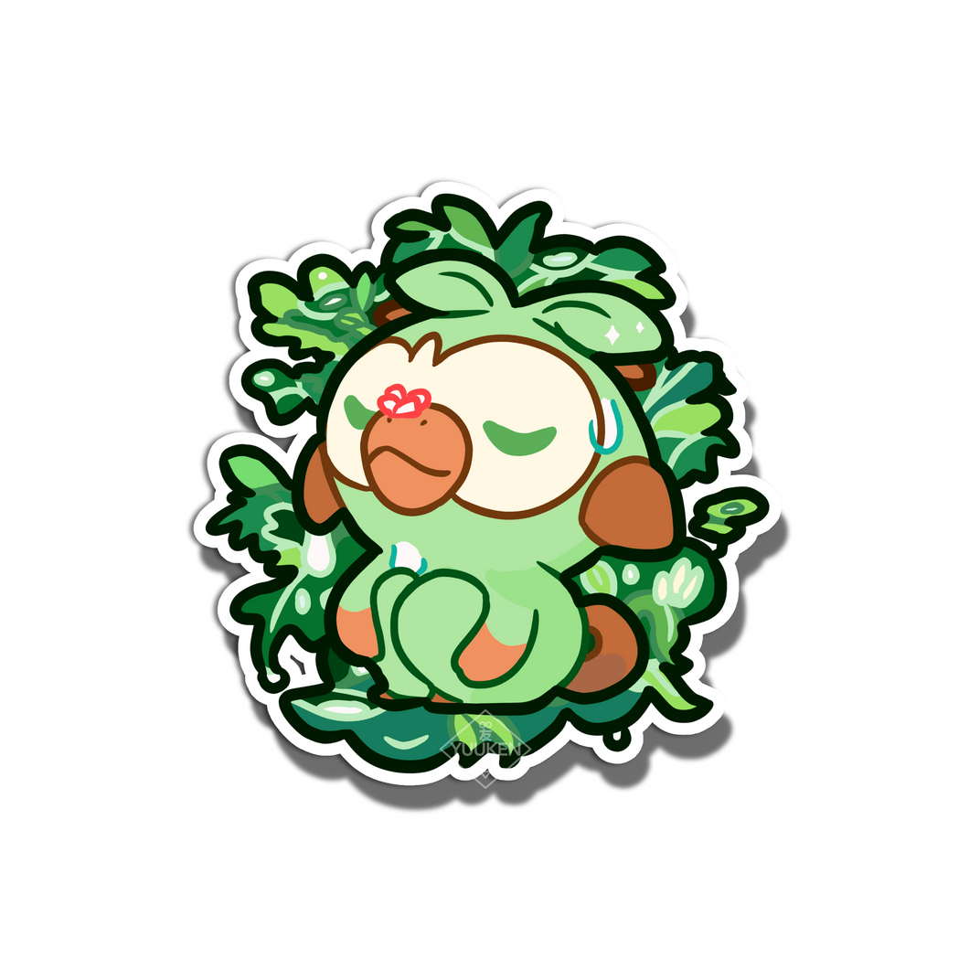 #122 Grookey Jungle Repose Vinyl Sticker