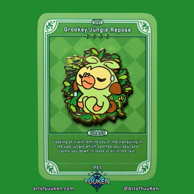 122 Grookey Jungle Repose Enamel Pin