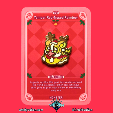 125 Yamper Red-Nosed Reindeer Enamel Pin