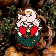 Load image into Gallery viewer, #127 Alcremie Christmas Angel Wreath Enamel Pin