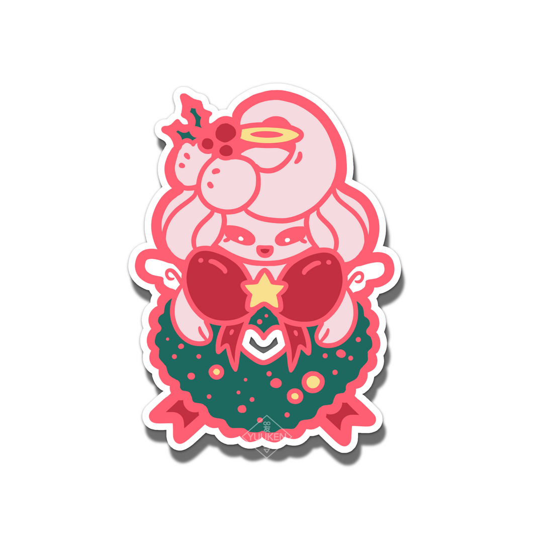 #127 Alcremie Christmas Angel Wreath Vinyl Sticker