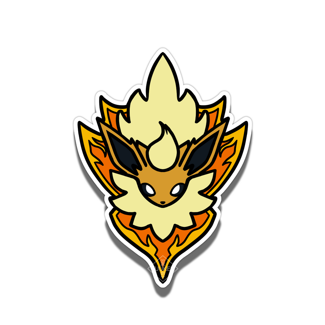 #144 Shiny Flareon Fire Shield Vinyl Sticker