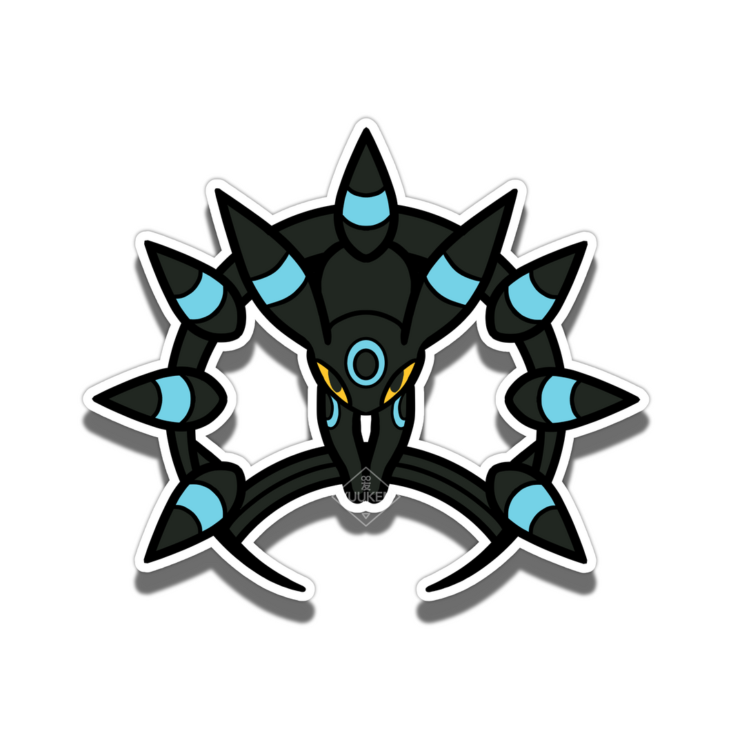 #146 Shiny Umbreon Dark Chakram Vinyl Sticker