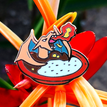 Load image into Gallery viewer, #102 Charizard Curry Rice Enamel Pin