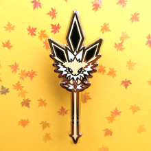 Load image into Gallery viewer, #134 Jolteon Electric Trident Enamel Pin