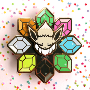 #141 Shiny Eevee Spinning Shuriken Enamel Pin
