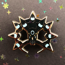 Load image into Gallery viewer, #146 Shiny Umbreon Dark Chakram Enamel Pin