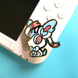 #163 Shiny Sylveon Enamel Pin