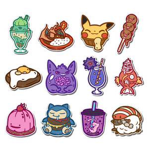 #101-112 Pokemon F&B 12 Pieces Vinyl Stickers Set