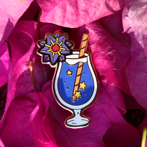 107 Starmie Starry Cocktail Enamel Pin