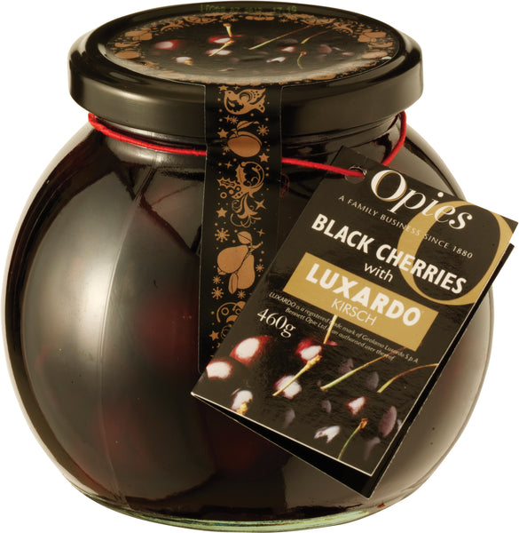Black Cherries with Kirsch xmas jar 460g