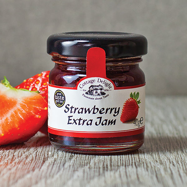 Cottage Delight Strawberry Extra Jam Mini Pot 40g