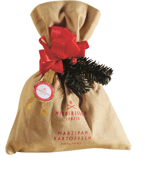 Niederegger Xmas Marzipan Potatos in Linen Bag 125g