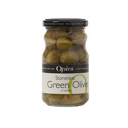 Opies Stoneless Green Olives 227g