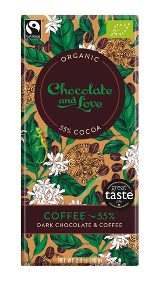 Chocolate and Love Coffee Chocolate Bar 55%