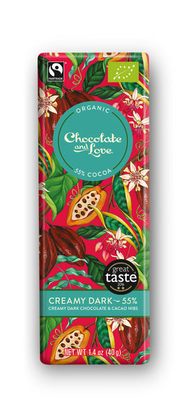 Chocolate and Love Creamy Chocolate Bar 55%
