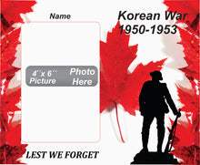 Load image into Gallery viewer, Korean War Memorial Wooden Box Picture Frame