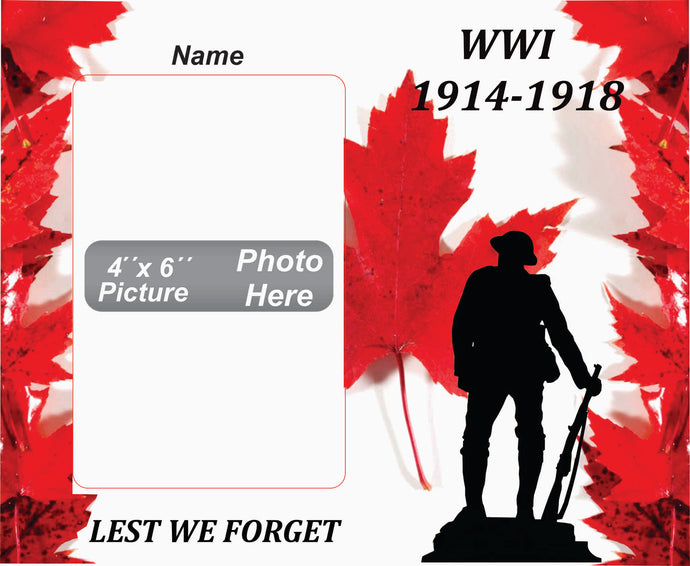 World War I Memorial Wooden Box Picture Frame
