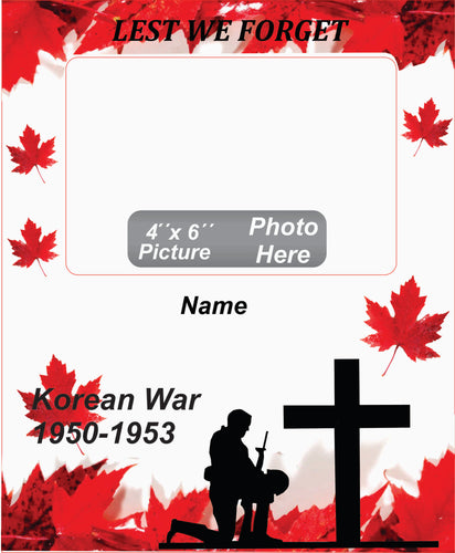 Korean War Memorial Wooden Box Picture Frame