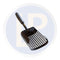 Black Ada Sand Scoop Black