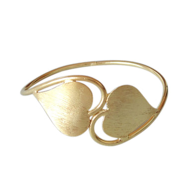 18K Gold Vermeil Heart Shape Designer Bridel Wedding Gift Bangle