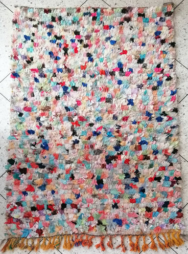 64,5 x 43 Moroccan Hand Knotted Rug Colorful Bohemian - by Home