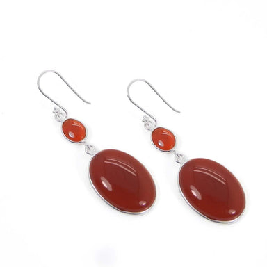 Earrings 925 Sterling Silver Red Onyx Dangle Designer Bezel Earring Jewelry