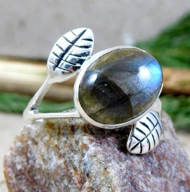 Rings 925 Sterling Silver Ring Labradorite Gemstone
