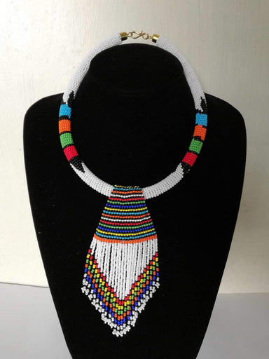 Necklaces African beaded necklace Boho Necklace Women jewelry Moms Gift - Title by Naruki Crafts