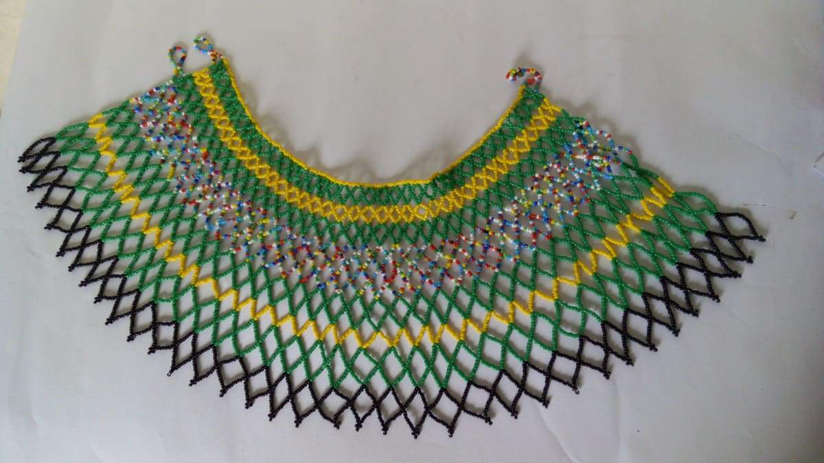 Necklaces African beaded wedding necklace Shawl Ceremonial necklace, - Title by Naruki Crafts