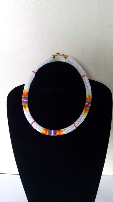 Necklaces African beaded rope necklace Zulu Christmas gift for her - Title by Naruki Crafts