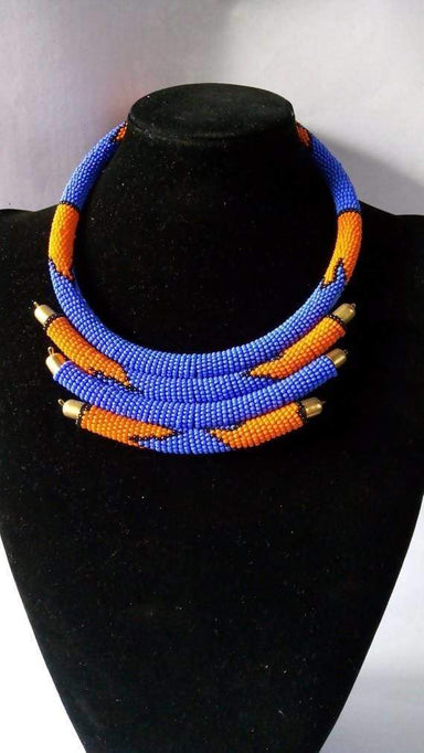 Necklaces African Beaded necklace Masai layered Necklace Moms gift Statement Christmas for her - Title by Naruki Crafts