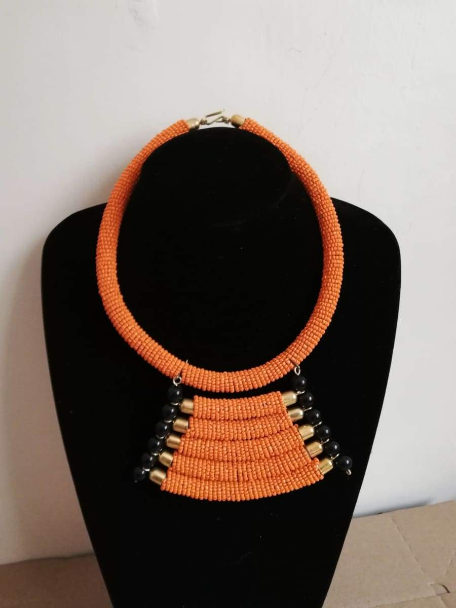 Necklaces African Zulu beaded necklace Maasai Christmas gift for her - Title by Naruki Crafts