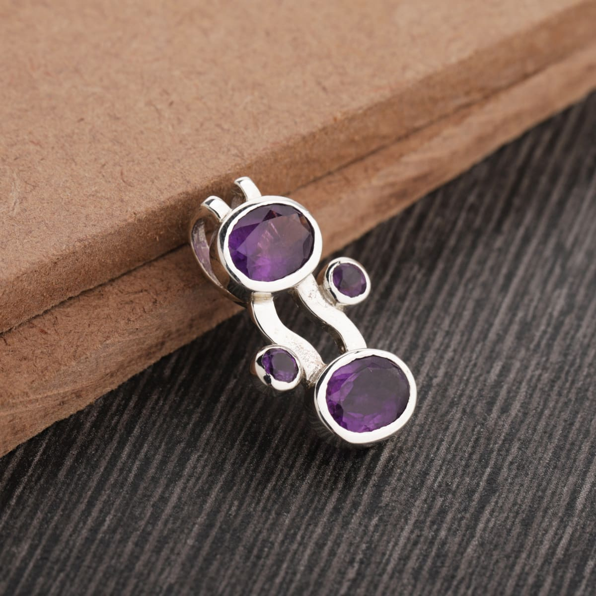 Amethyst 925 Sterling Silver Pendant - by UniqueSilverZone