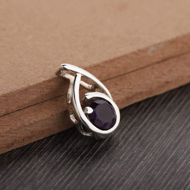 Amethyst Pendant / Purple Stone / Necklace / February Birthstone / Sterling Silver