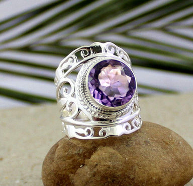 Rings amethyst silver ring jewellery designer