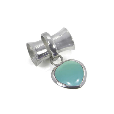 Necklaces Aqua Chalcedony Heart Shape 925 Sterling Silver Handmade Pendant