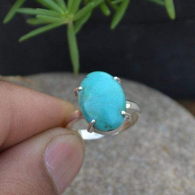 Rings Arizona Turquoise 925 Sterling Silver Ring- Handmade Gift Ring