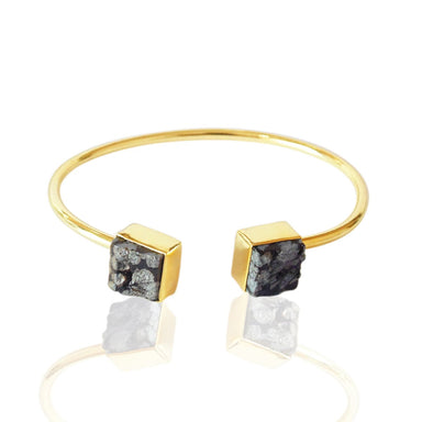 Artisan Crafted Natural Black Obsidian Gemstone Everyday Wear Stackable Bangle