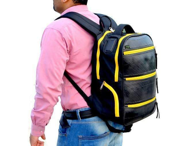 Backpacks Artisan Upcycled Black Backpack