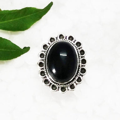 Rings Attractive BLACK ONYX Gemstone Ring Birthstone 925 Sterling Silver Artisan Handmade Fashion All Size Gift