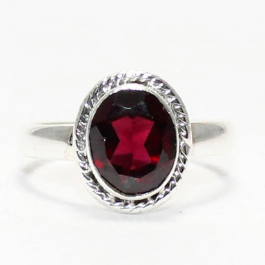 rings Attractive NATURAL RED GARNET Gemstone Ring Birthstone 925 Sterling Silver Fashion Handmade Jewelry All Size Gift - by Zone