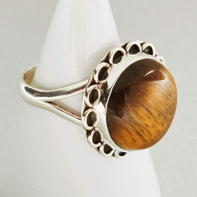 Rings Awesome NATURAL TIGER EYE Gemstone Ring Birthstone 925 Sterling Silver Fashion Handmade All Size Gift - by Jewelry Zone