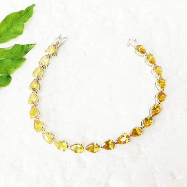 Bracelets Awesome YELLOW CITRINE Gemstone Bracelet Birthstone 925 Sterling Silver Fashion Handmade Adjustable Size Gift