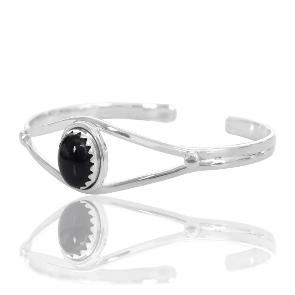 Bracelets Beautiful Black Onyx Gemstone 925 Sterling Silver Cuff Bangle Handmade Solid for Men and Women Bracelet