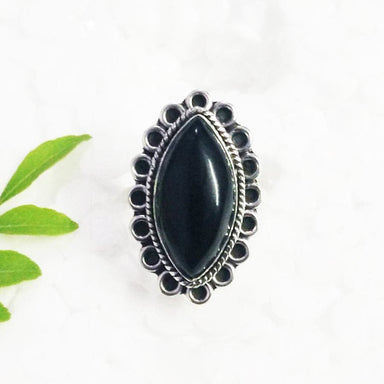 Rings Beautiful BLACK ONYX Gemstone Ring Birthstone 925 Sterling Silver Fashion Handmade All Size Gift