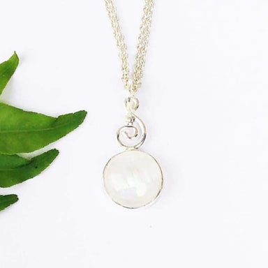 necklaces Beautiful NATURAL BLUE FIRE RAINBOW MOONSTONE Gemstone Pendant Birthstone 925 Sterling Silver - by Jewelry Zone